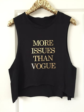 More Issues Than Vogue Cropped Muscle Tank
