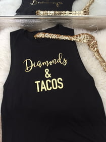 Diamonds & Tacos Flowy Muscle Tank