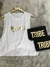 Cropped Tanks Bride and TRIBE Cropped Muscle Tank