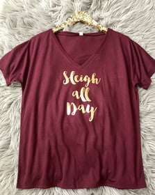 V-Neck Tees Sleigh All Day Loose V-Neck Tee