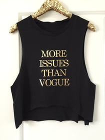 Cropped Tanks More Issues Than Vogue Cropped Muscle Tank