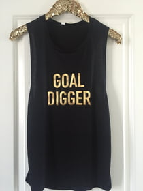 GOAL DIGGER Flowy Muscle Tank